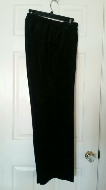 f56fc2d9347 Investments Womens Plus Corduroy Pull On Pants 100% Polyester-Size 22W  -Black