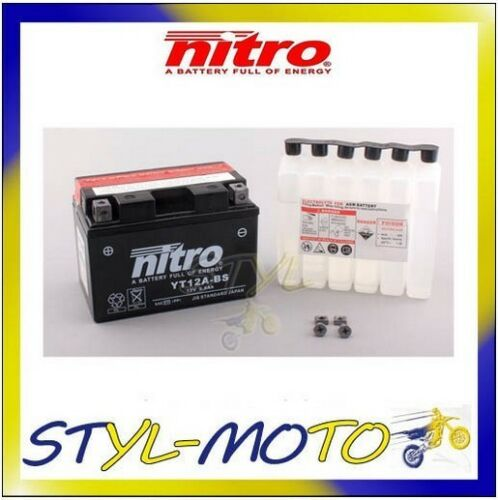 YT12A-BS BATTERIA BATTERY NITRO AGM KYMCO 300I DOWNTOWN 2011