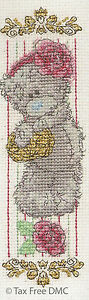 VAT Free DMC Cross Stitch Kit Tatty Teddy Me to You Vintage Rose Bookmark New