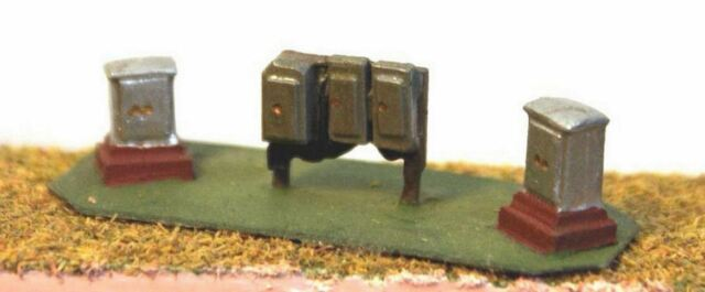 Trackside Relay boxes A38p PAINTED N Gauge Scale Langley Models 1/148 Scenery