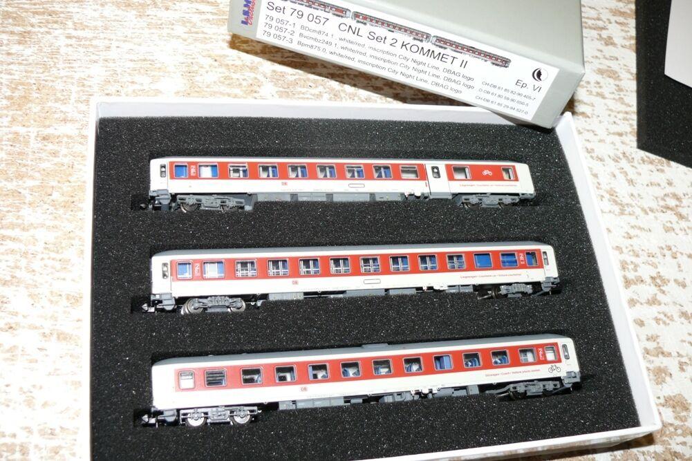 SH L.S.  Models 79 057 Personenwagen Set 2 CNL  Kommet II DB AG Sp N