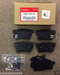 genuine oem honda civic rear brake pad set   brakes pads cr  crz ebay
