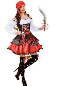 328a33ec17de1a Das Bild wird geladen Karneval-Damen-Kostuem-Fasching-Halloween-Parties -Motive-Piraten-