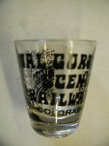Vintage-Shot-Glass-Royal-Gorge-Scenic-Railway-Colorado-No-Chips-or-Cracks