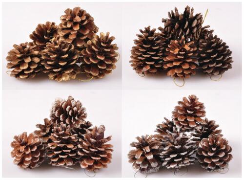 Weihnachtsdeko Tannenzapfen 6er-Set Weihnachtsbaumanhänger Christbaum Anhänger