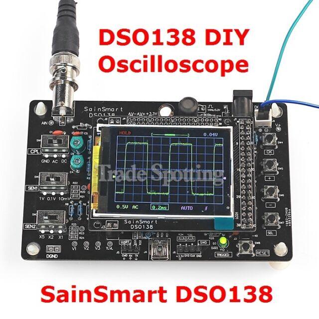 DSO138 Digital Oscilloscope Kit 2.4 inch Display DIY Parts + 1x Probe 1Msps