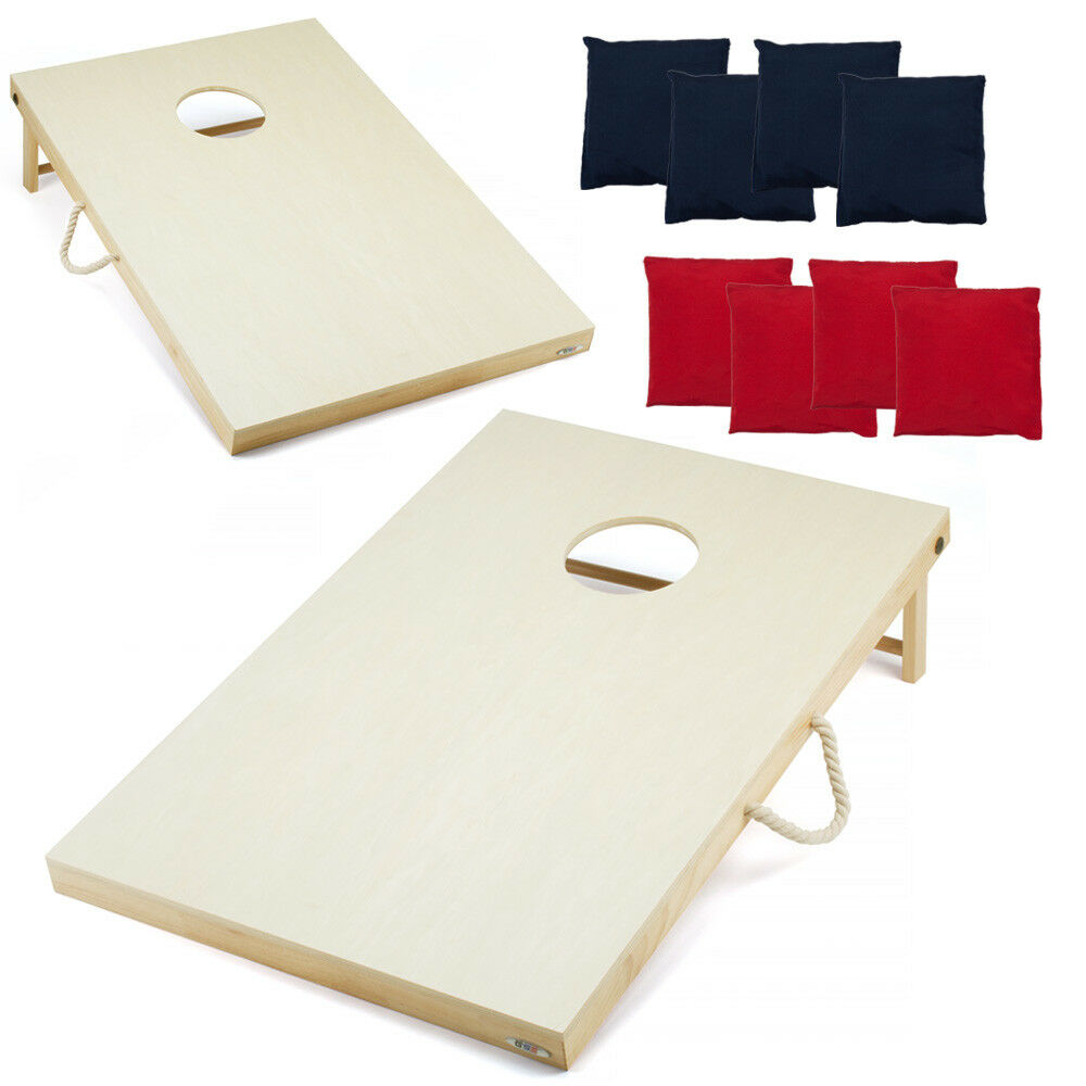 3' x 2' Solid Wood Cornhole Board Toss Game Set with 8 Bean Bags