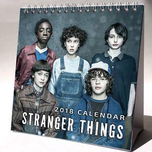 Stranger-Things-Desktop-Calendar-2018-NEW-FREE-GIFT-3-Stickers-Elevan-TV-Show