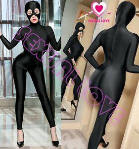 Tuta Completo Aderente Mistress Dominatrice Seta Clubwear Cavallo Aperto Bdsm Construction Robuste