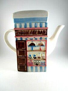 Vintage MSRF, Inc. Design Studio Chocolate Bar and Cupcakes Shop Ceramic Teapot