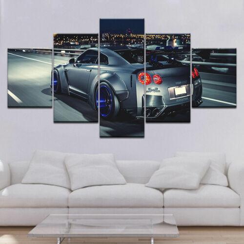 Nissan GTR R35 Car HD 5 Pieces Canvas Wall Art Poster Print Home Decor
