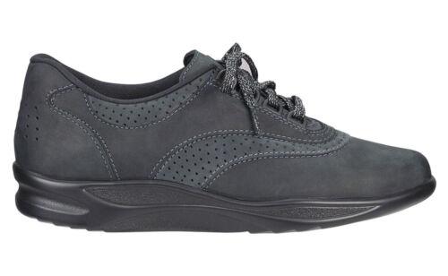 SAS Walk Easy Nero Black Womens Shoes 9.5 WW Double Wide FREE SHIPPING Brand New