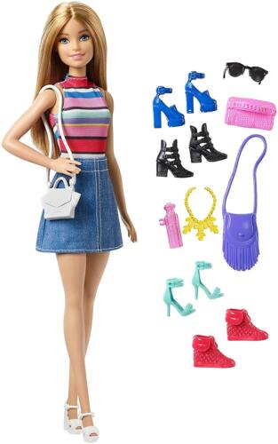 Multi Color Barbie Doll or Shoe Blonde