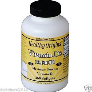 Healthy Origins Vitamina D3 10.000 IU - 360 Pillole