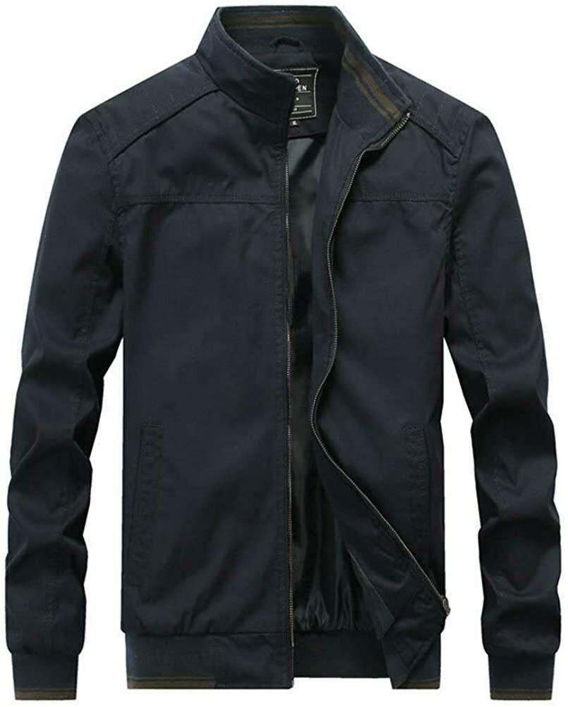 FTCayanz Men's Flight Bomber Jacket Cotton Lightweight Softshell Windbreaker...