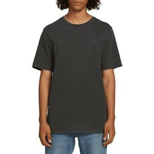 Volcom-Mens-T-Shirt-Solid-Stone-Short-Sleeve-T-Shirt-In-Black-Modern-Fit-Large-L