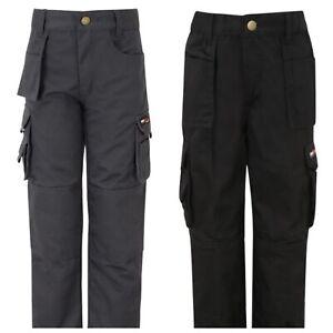 Tuffstuff-Pro-Travail-Junior-Pantalon-Enfants-Garcons-Filles-Workwear-CARO-Pantalon-Fort-UK