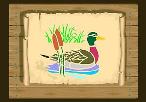 Duck-swimming-among-Bulrushes-Stencil-350-micron-Mylar-not-thin-stuff-Bird040
