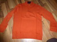 oranger Pullover von Lands End, Gr.S, wie NEU, Bedford-Troyer, Classic Fit
