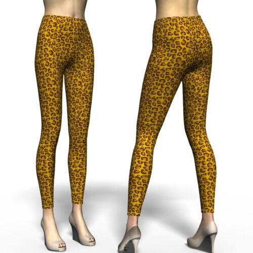 Leopard Tiger Skin Stripes Color Printed Women Regular Leggings Size XS-5XL Plus