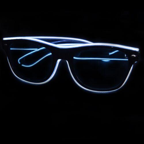 Light Up EL Wire Sunglasses Nightclub Rave Props Parties