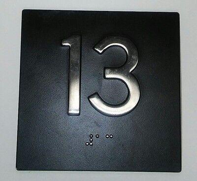Unique Unlucky Bad Luck Floor 13 13th Floor Elevator Plate Sign