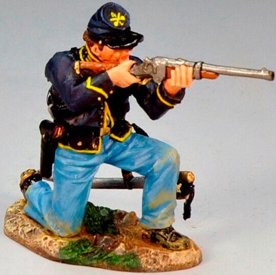 King & Country Bürgerkrieg CW066 Union Trooper Kniend Brennen Karabiner MIB