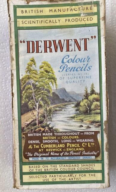Vintage Derwent England Set  - 68 Of 72 Colored Pencils