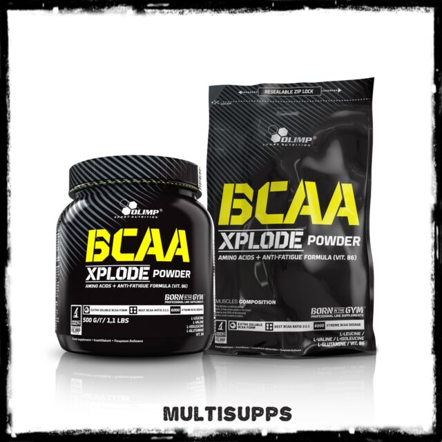 OLIMP Bcaa Xplode 500g & 1000g Acides aminés Poudre vit. B6 & l-glutamine