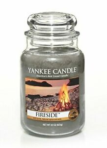 ☆☆FIRESIDE☆☆ LARGE YANKEE CANDLE JAR~FREE FAST SHIPPING☆☆BEST PRICE ON EBAY