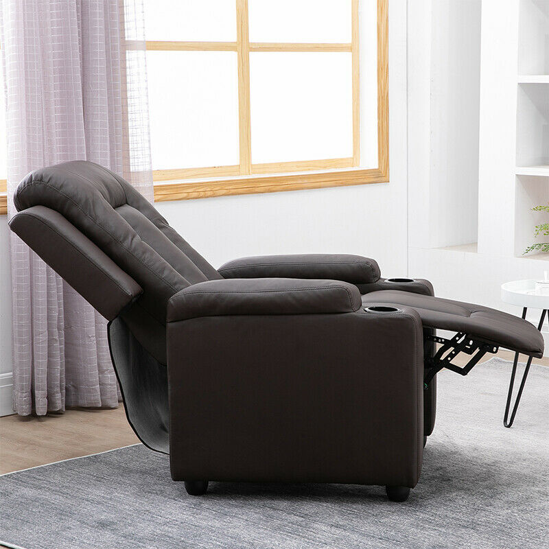 Details about Luxury Faux Leather Recliner Chair Wingback Sofa Lounge Home Cinema Fireside BN
