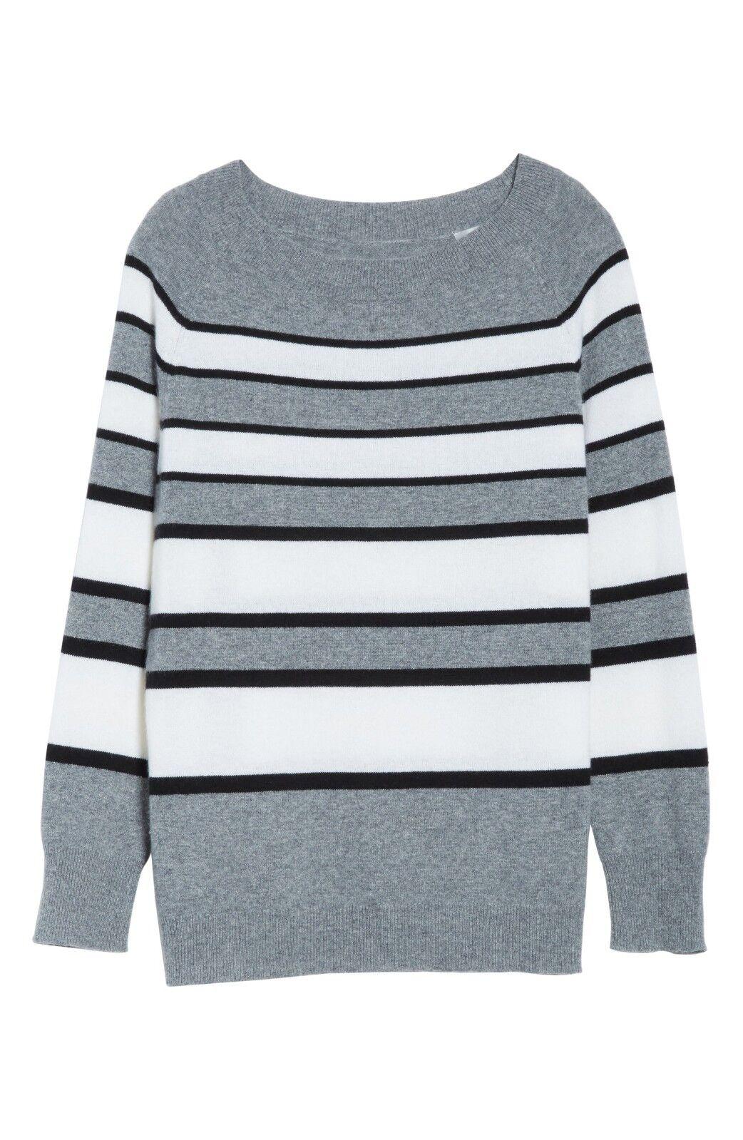 NWT Equipmänt Cody randig Cashmere tröja Heather grå Multi Storlek S, M  318