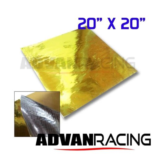 Gold Heat Reflector Barrier Tape Sheet 20 x 20 in.