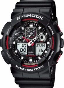 Casio-G-Shock-GA100-1A4-Red-Black-Analog-Digital-Men-039-s-Watch