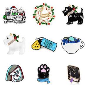 Cartoon-Christmas-Enamel-Brooch-Pin-Shirt-Collar-Breastpin-Women-Jewelry-Cheap