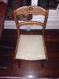 Image Is Loading Antique Rose Back Dining Chairs Quany Four 4