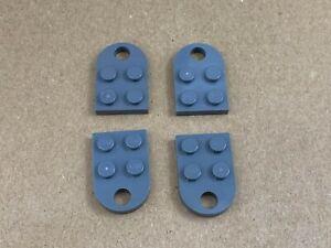 LEGO PART 3176 DARK BLUISH GREY PLATE MODIFIED 3 X 2 WITH HOLE NEW X 5