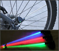 2x Cycling Bike Warning Lights Bicycle Wheel Spoke Tire Steel Wire Led Lamp