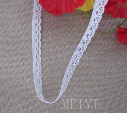 12 Meters Vintage White Cotton Crochet Lace Trim Ribbon Appliques Sewing Craft