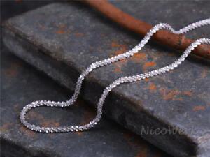 Silberkette-mit-Anhaenger-Glaenzend-Kurz-Schlicht-Halskette-Damen-925-Silber