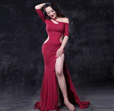 New 2016 Women Sexy Belly Dance Costume Modal 2Pics Long Dress&Shorts M L