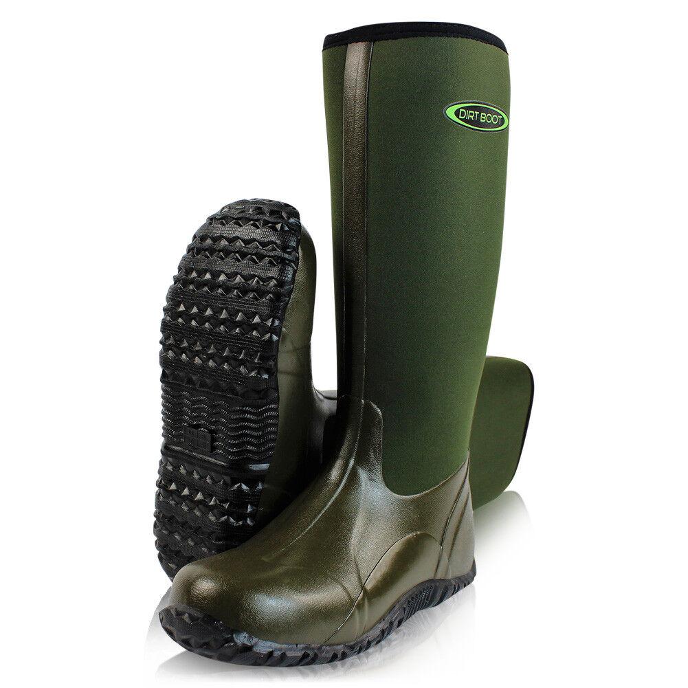 Dirt Boot ® Neoprene Wellington Muck campo ® Stivali Unisex Uomo & Da Donna Verde