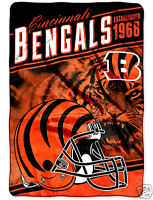 Cincinnati Bengals Blanket Bedding Xxl 90x62 Free Shipping Throw Lightweight
