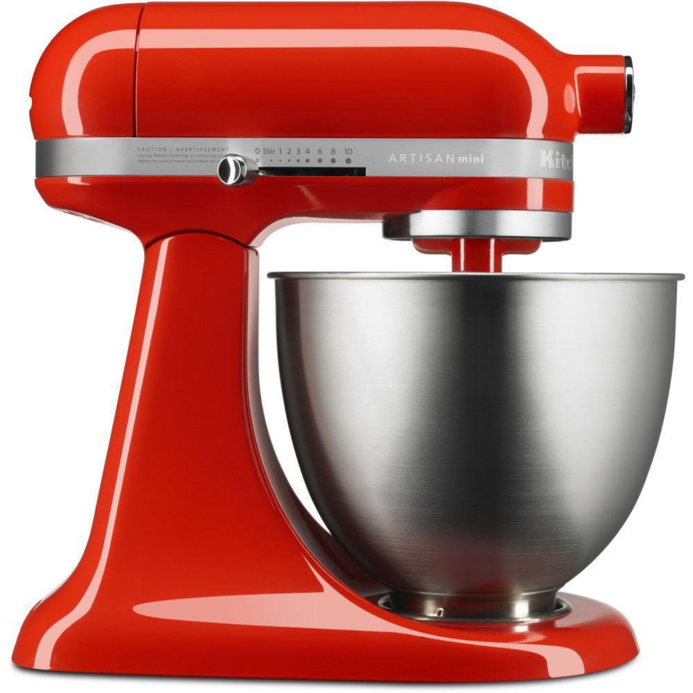 KitchenAid Artisan Mini 3.5 QT Tilt Head Robot Mélangeur Rouge-KSM3311XER NOUVEAU mélangeur