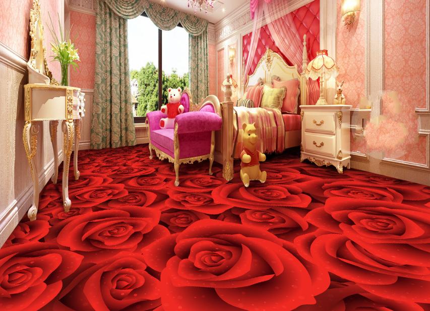 3D Rot Rosen Blumen 65 Fototapeten Wandbild Fototapete Tapete Familie DE Lemon