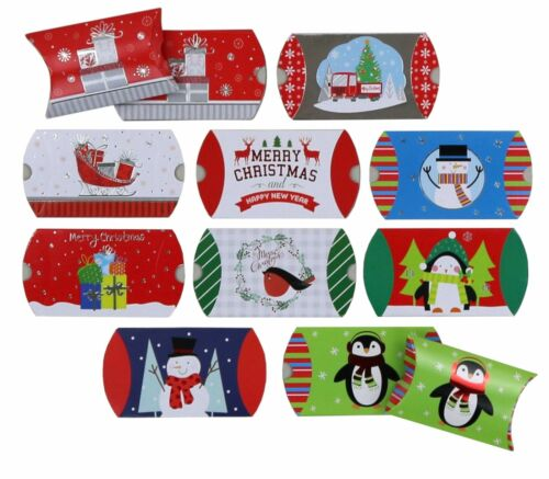 50-Count Christmas Gift Card Pillow Boxes