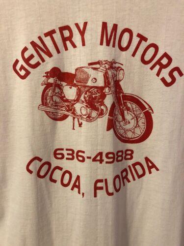 Vintage T-SHIRT Rare Motorcycle Florida Dealer Tee