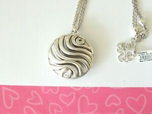 Brighton-OCEANUS-ROUND-CONVERTIBLE-Pendant-Silver-Necklace-New-tags-78