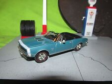 67 camaro ss 1967 ertl American Muscle 1:43 Scale blue convertible no box loose
