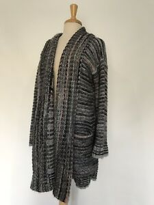 NEW-Anthropologie-Multi-Alpaca-Wool-Cardigan-Sweatercoat-Size-Large-Sweater-Coat